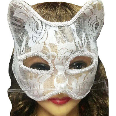 Women Sexy Lace Fox Cat Face Eye Mask Halloween Party Dance Role Playing Prop PX](Halloween Party Dance)