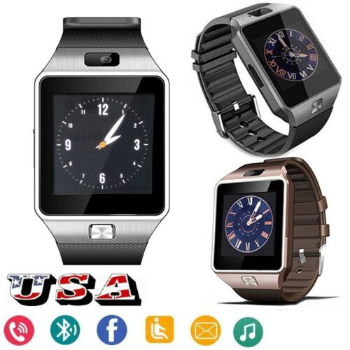 Bluetooth Smart Watch Unlocked Watch for Android Huawei OnePlus 6T 6 ZTE Blade Cell Phones & Accessories