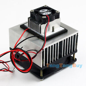 Thermoelectric Peltier Refrigeration Cooling System Kit Cooler fan & TEC1-12706