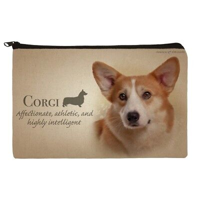 Corgi Dog Breed Makeup Cosmetic Bag Organizer Pouch