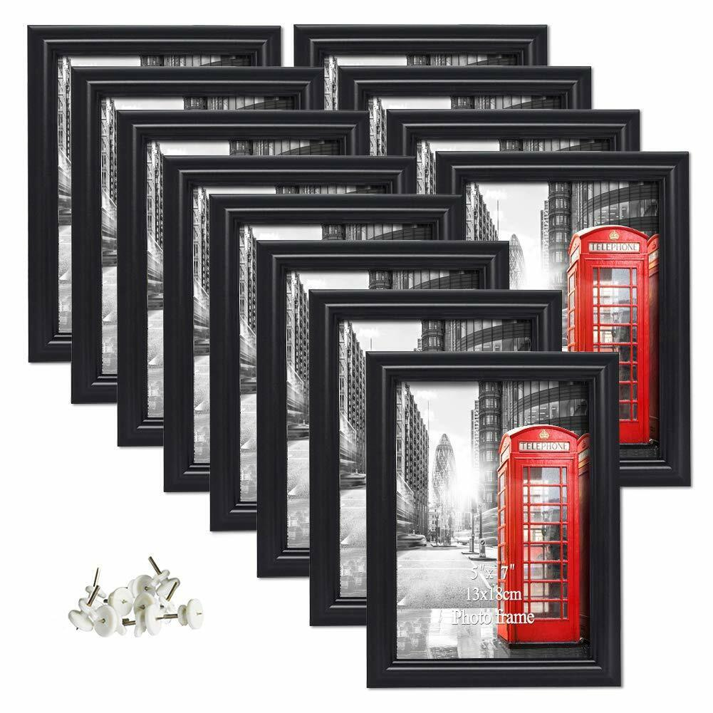 12 pack 5x7 picture frames black photo