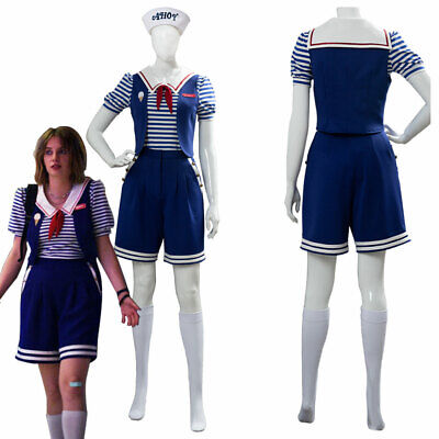 Stranger Things Season 3 Robin Scoops Ahoy Cosplay Kostüm Damen Kleid - Robin Kostüm Damen