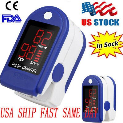 Fda Fingertip Pulse Oximeter Meter Spo2 Heart Rate Monitor Blood Oxygen Saturate
