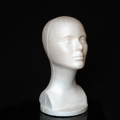 Fashion Female Styrofoam Mannequin Foam Head Model Glasses Hat Wig Display Stand