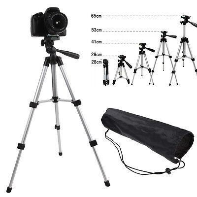 Flexible Portable Aluminum Camera Camcorder Tripod Stand & Bag for Canon Camera