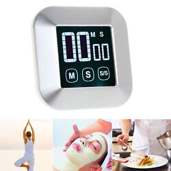LCD Digital Touch Screen Practical Kitchen Cooking Timer Loud Long Alarm Clock