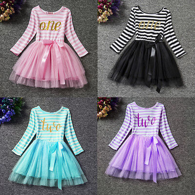 1st 2nd 3rd Birthday Dress Toddler Baby Girl Princess Tutu Dresses Party Outfits](Toddler Girl 3rd Birthday Outfits)