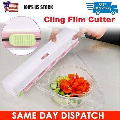 Pro Kitchen Plastic Foil Cling Film Wrap Dispenser Cutter Storage Tools US STOCK Foil Wrap Dispenser