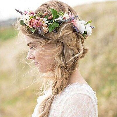 Dame Blumen Kranz Boho Strand Haar Haarband Stirnband Haarschmuck Zubehör