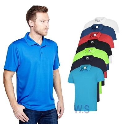 Uneek UC125 Mens Ultra Cool Polo Shirt 140gsm 100% Polyester Breathable Fabric