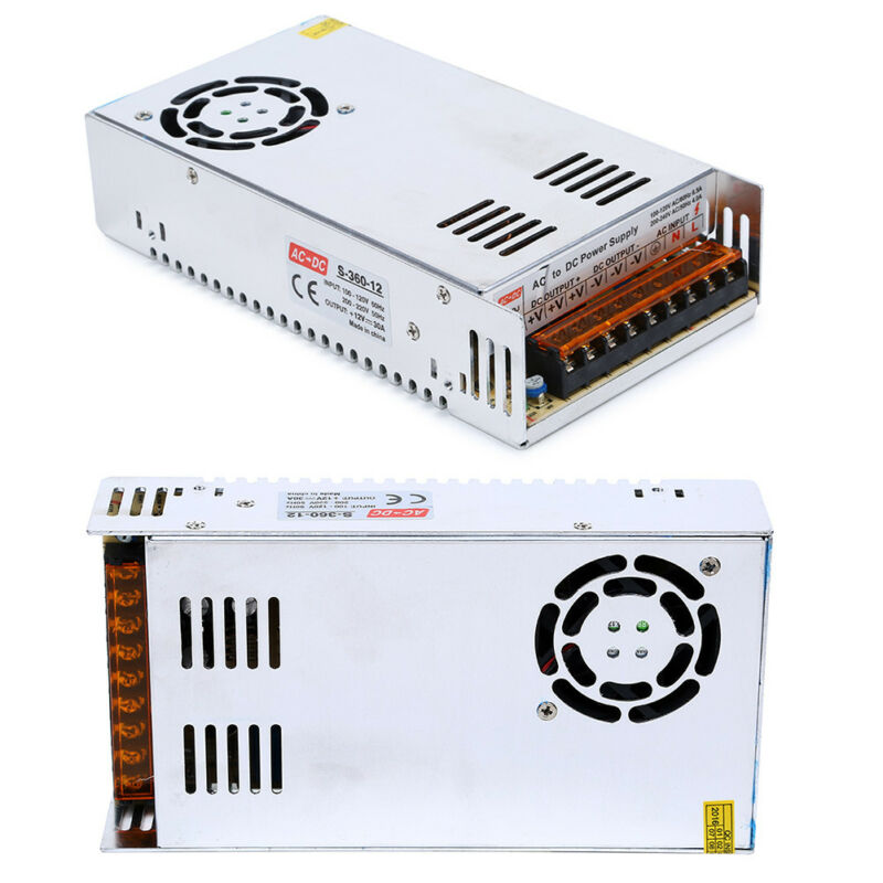 AC 110/220V to DC 12V 30A 360W Voltage Transformer Switch Power Supply Converter