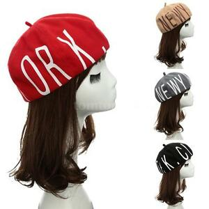 Womens-Cotton-Knit-Ski-Beanie-Skull-Cap-Hip-Hop-Ski-Cap-Autumn-Winter-Hats-WJ57