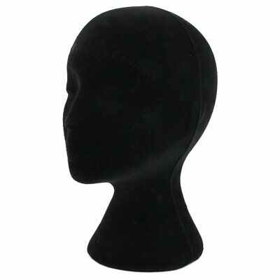 Female Black Styrofoam Foam Mannequin Head Model Wigs Glasses Hat Display Stand