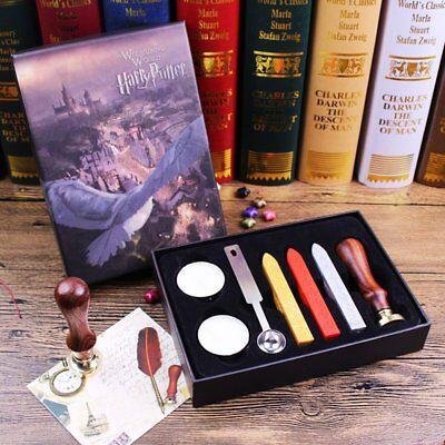 Harry Potter Hogwarts School Badge Seal Stamp Wax Kit Stick Melting Spoons - Harry Potter Kit