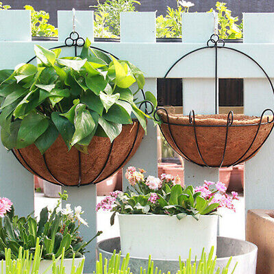 Rattan Flower Basket Plant Pot Holder Home Wall Hanging Garden Decor