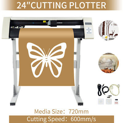 24 Rs720c Vinyl Sign Sticker Cutter Plotter W Contour Cut Function Machine