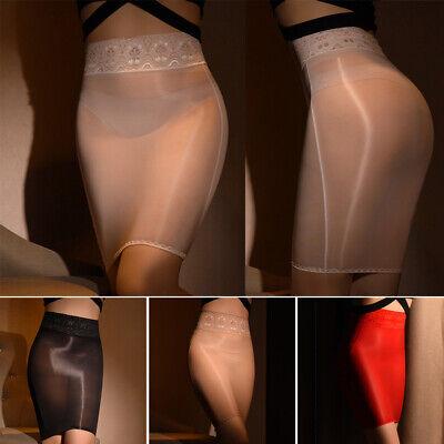 Durchsichtig Röcke Minirock Damen Clubwear Stretch Unterröcke Figurbetont