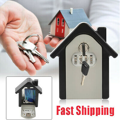 4 Digit Combination Key Lock Box Wall-mount Safe Security Storage Case Organizer