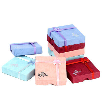 6 Pack Cardboard Jewelry Gift Boxes Square Bracelet Anklet Gift Cases 3.5x3.5