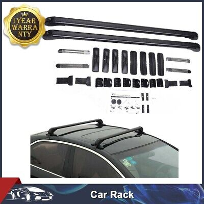 "43"" Aluminum Car Top Luggage Roof Rack Cross Bar Carrier Adjustable Window Frame"