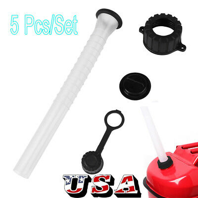 5 Pcs Pour Replacement Spout Replace Old Gas Can Fill Kit Fuel Diesel Water Jug