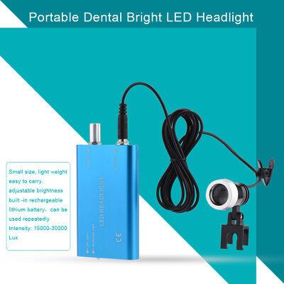 Blue Dental Led Head Light Lamp Headlight For Surgical Loupes Glasses Loupes