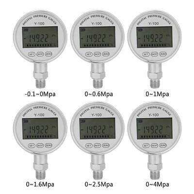 Y100high Precision Digital Hydraulic Pressure Gauge Manometer Pressure Tester