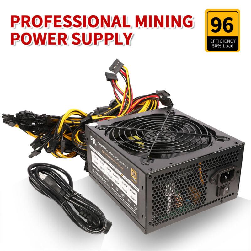 Modular Mining Power Supply 2000W PSU 8 Graphics GPU Rig Ethereum Miner US Stock