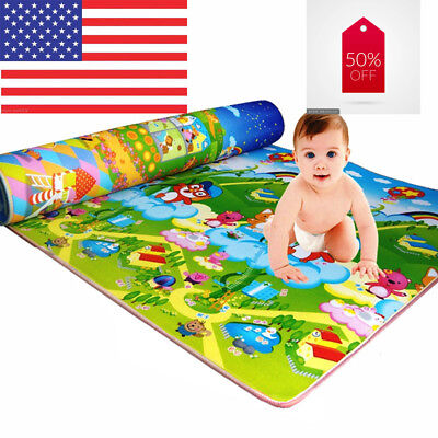 Baby Kids Child Play Mat Foam Activity Crawling Creeping Bla