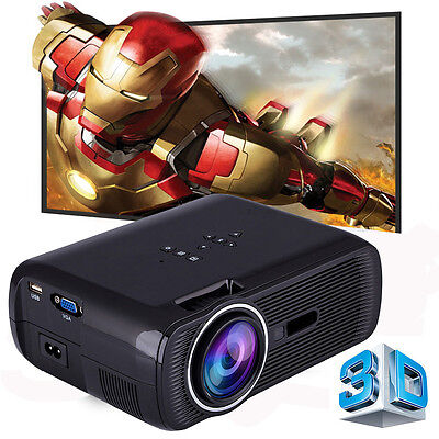 2300 LUMENS HD 1080P HOME CINEMA THEATER MULTIMEDIA LED LCD PROJECTOR HDMI 3D