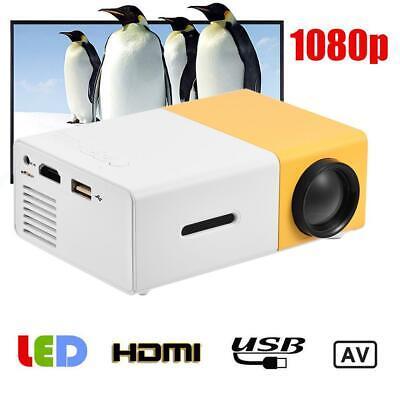 YG300 HD 1080P Mini LED Portable Projector Home Theater Cinema Multimedia HDMI