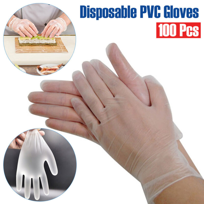 200PCS Plastic Dispoosable Glooves Restaurant Home Service Catering @bec