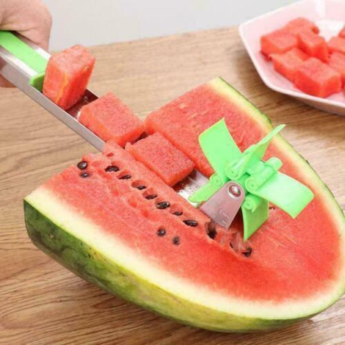 Watermelon Cutter Windmill Shape Plastic Slicer Kitchen Tool US