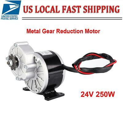 250w 24v Dc Electric Motor Bicycle Bike Metal Reduction Torque Geared Motor Usa