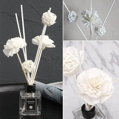 Rattan Reed Fragrance Diffuser Essential Oil Sticks Ball Flower Home Bathroom De