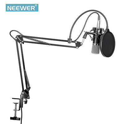 Neewer NW-700 Condenser Microphone with Mic Suspension Scissor Arm Stand Kit