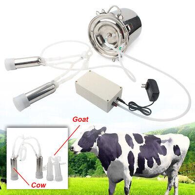 5l Electric Milking Machine Vacuum Impulse Pump Goat Milker Stainless Steel