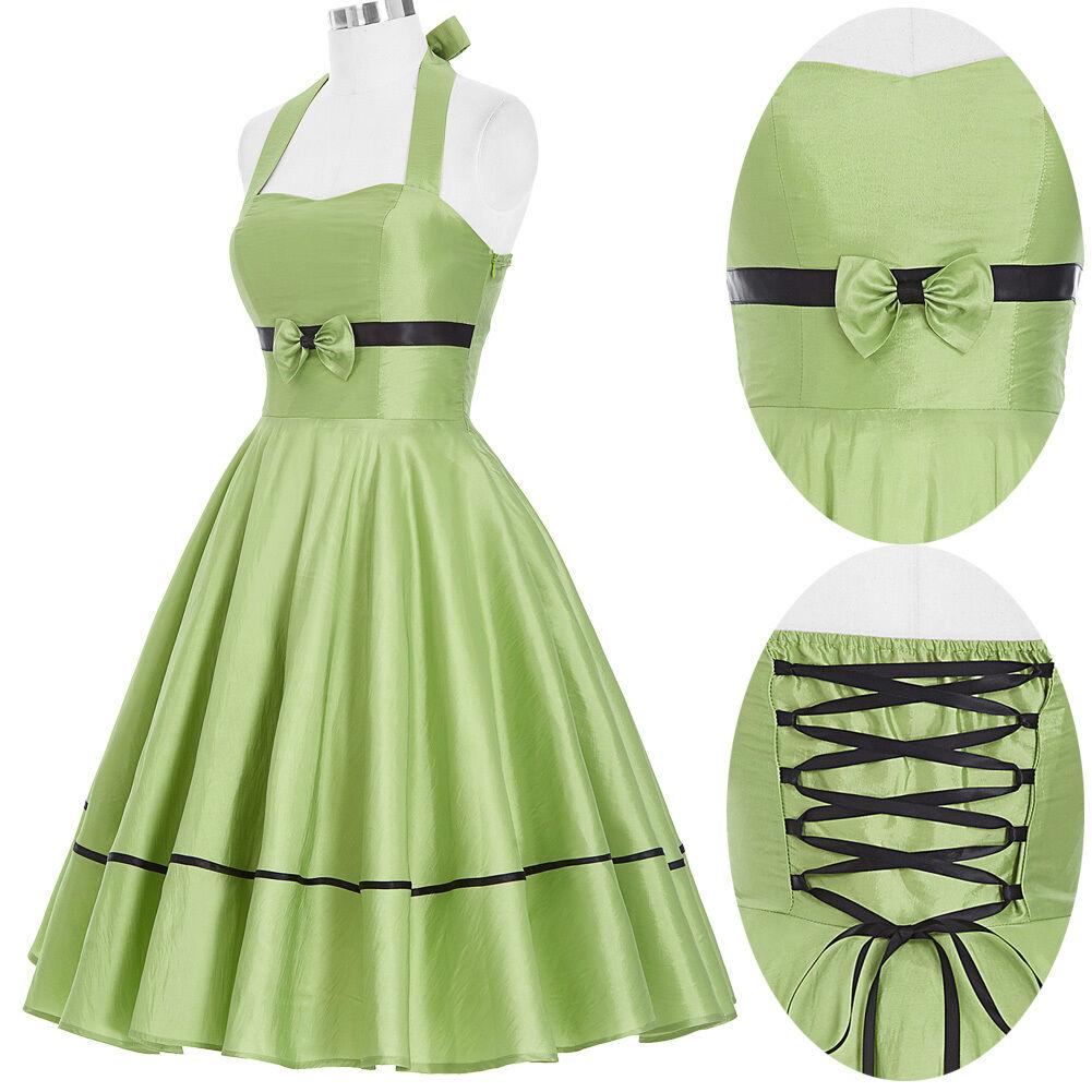 Ann es 50 de 60 robe vintage retro swing pin up femme au for Femme au foyer annees 50