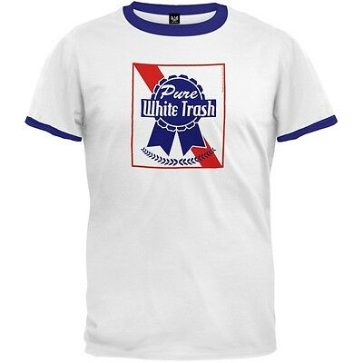 4th of July Pure White Trash Ringer T-Shirt