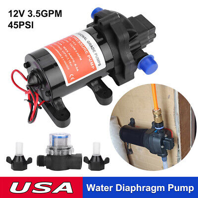 On Demand Diaphragm Water Pump 12v 45psi 13lm Ideal For Caravanrvboatmarine