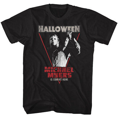 Halloween Michael Myers Is Coming Home Adult T Shirt Great Scary Movie - Is Halloween Scary