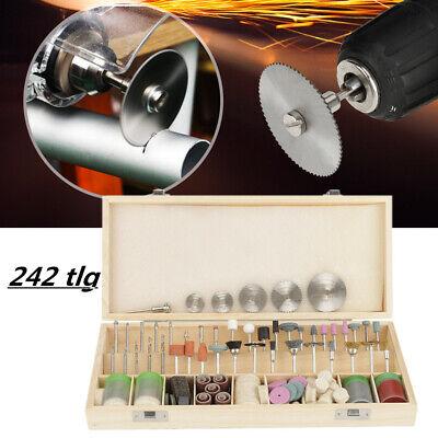 242x Drehwerkzeug Satz Schleifset Polierset Drill Zubehör Set f. Schleifmaschine