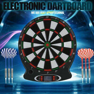 Elektronische Dartscheibe LCD-Display Dartboard Wurfspiel 6x Dartpfeile Top K