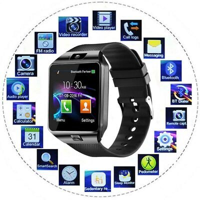 Latest 2020 Smart Watch Phone Camera Bluetooth iOS & Android DZ09 USA Black