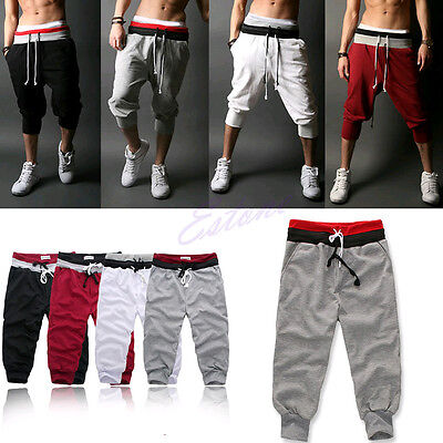 Baggy Jogger Casual Trousers Shorts Men Sports Pants Harem Training Dance