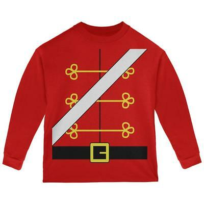 Christmas Toy Soldier Nutcracker Costume Toddler Long Sleeve T Shirt - Toy Soldier Nutcracker Costume