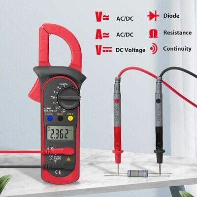 Digital Multimeter Meter Clamp Amp Ohm Voltmeter Auto Range Volt Tester Ac Dc