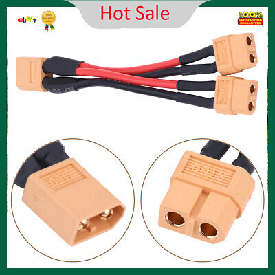 XT60 Parallel Battery Pack Port Adapter 14AWG Cable for RC 1 Male...