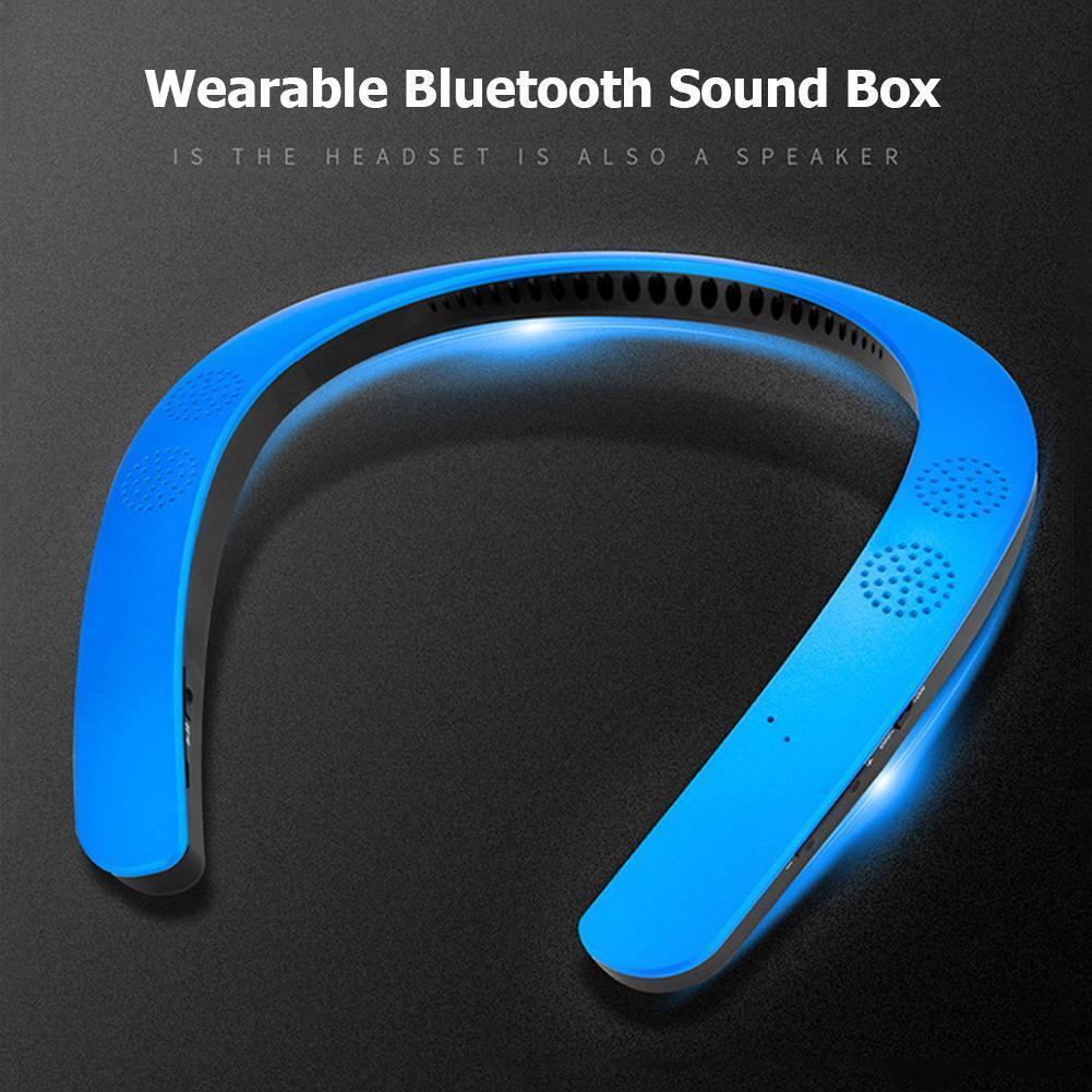 Bluetooth Wearable Neckband Sport Wireless Mini Stereo Speak