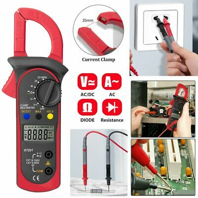 Digital Multimeter Tester Acdc Voltage Ac Current Ohm Clamp Meter Auto Range